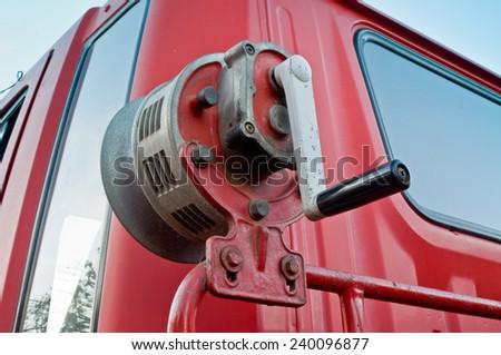 fire truck horn  - stock photo