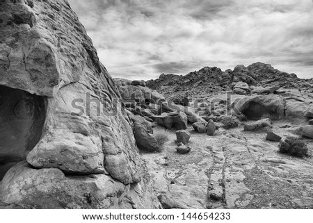 Fire Valley - stock photo