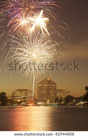 fire works - stock photo