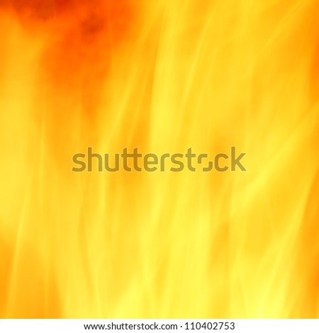Fire yellow abstract background - stock photo