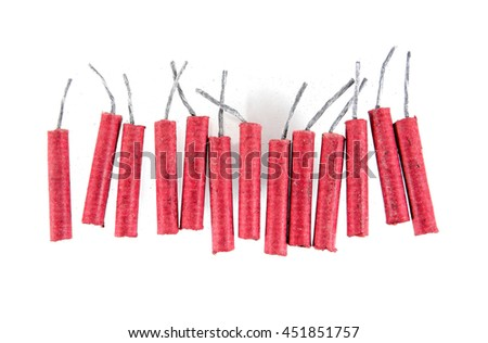 Firecrackers isolated on white background.Firecrackers - stock photo