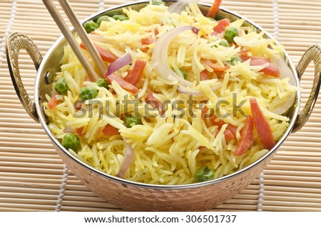 Fired Rice with Vegetable  - stock photo