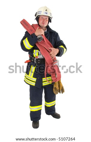 firefighter - stock photo