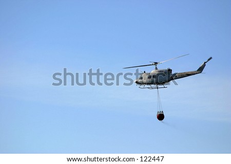 firefighter chopter - stock photo