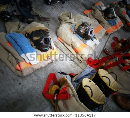 Firefighter protector - stock photo