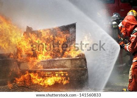 Firefighters - stock photo