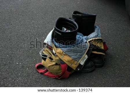 Fireman Boots - stock photo