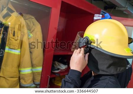 fireman, firefighter - stock photo