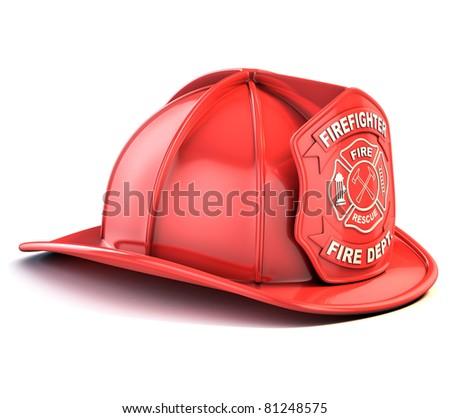 fireman helmet - stock photo