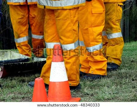 Firemen - stock photo