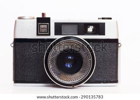 Firenze, IT - March 20, 2015: Vintage Taron 50mm film camera. - stock photo