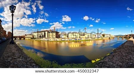 Firenze panoramic view - stock photo