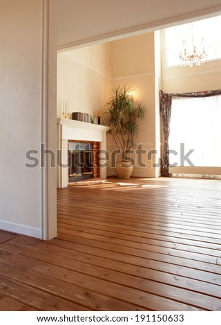 fireplace room - stock photo