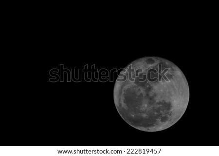 Firest Full Mini Moon in January 2014 Tenerife Canary Islands Spain - stock photo