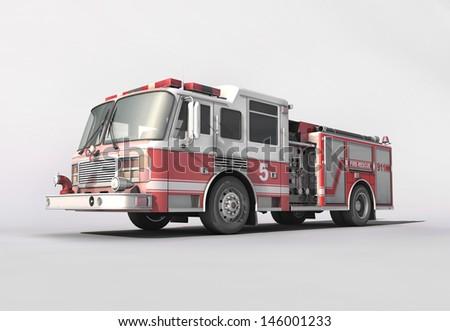 Firetruck - stock photo