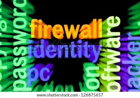 Firewall identity - stock photo