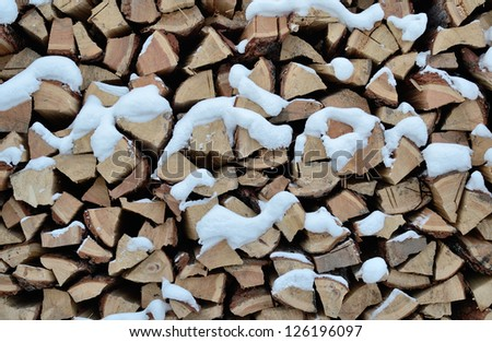 Firewood in the country - stock photo