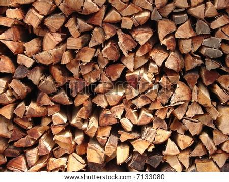 Firewood ready - stock photo
