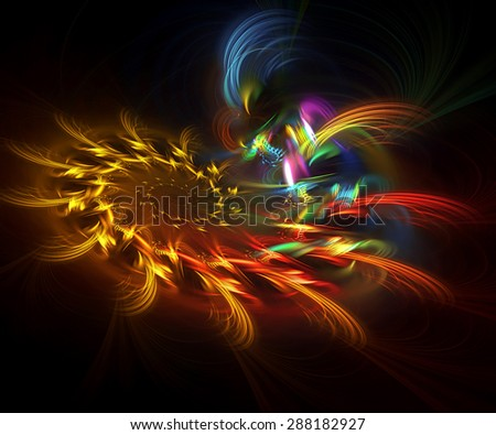 Fireworks abstract illustration - stock photo