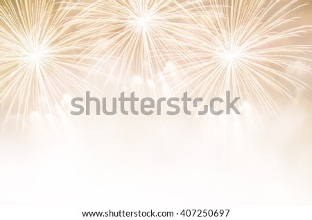 Fireworks and copy space. Abstract background holiday. - stock photo