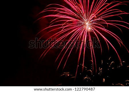 Fireworks as background - stock photo