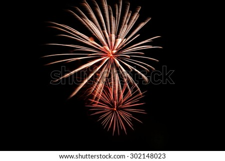 Fireworks as background, celebration, anniversary, and cheerful. - stock photo