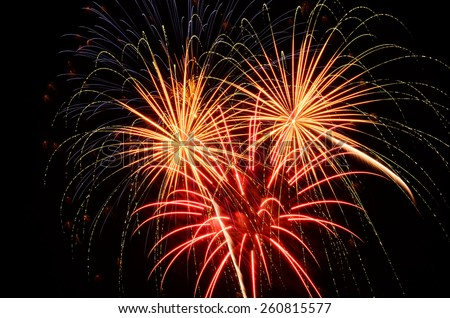 Fireworks at a 4th of July, Independence Day celebration in Oregon   - stock photo