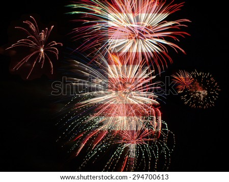 fireworks background for independence day and other USA celebrations - stock photo