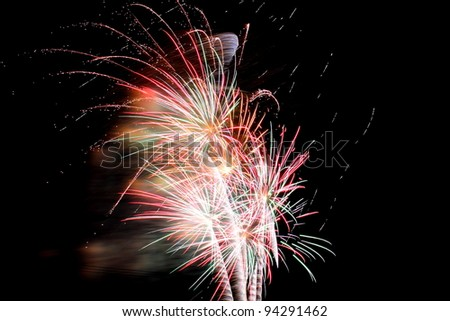 Fireworks celebrating australia day - stock photo