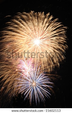 Fireworks display - stock photo