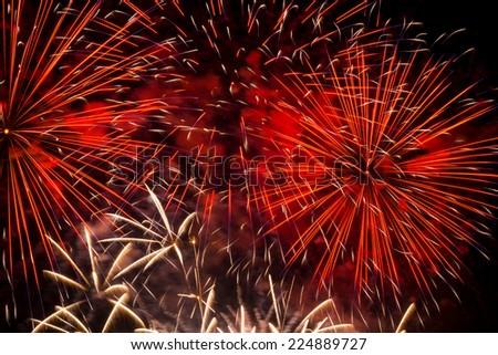 Fireworks Display - stock photo