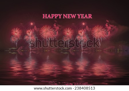 Fireworks display during new year celebration - stock photo
