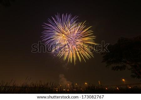 Fireworks Display event - stock photo