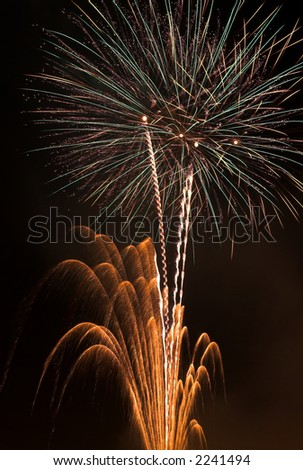 Fireworks Display on Bonfire Night - stock photo