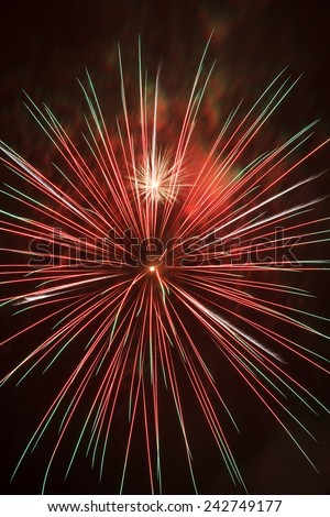 Fireworks exploding in the skies. - stock photo
