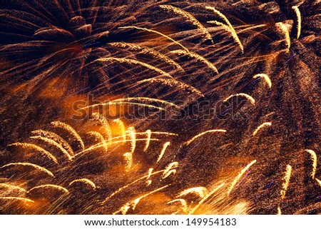 Fireworks Festival beautiful, colorful lights in the night sky - stock photo