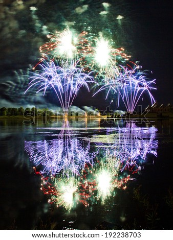 Fireworks in Calgary - stock photo