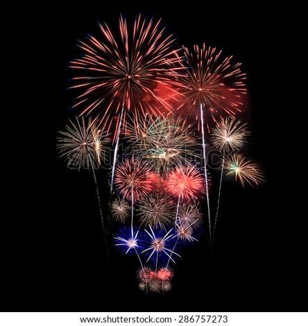 Fireworks light up the sky  - stock photo