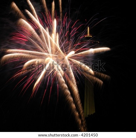 Fireworks Niagara Falls,New York - stock photo