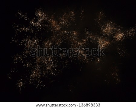 Fireworks (or science image) - stock photo