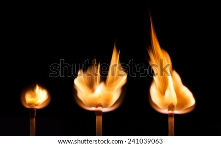 Firing point matches  - stock photo