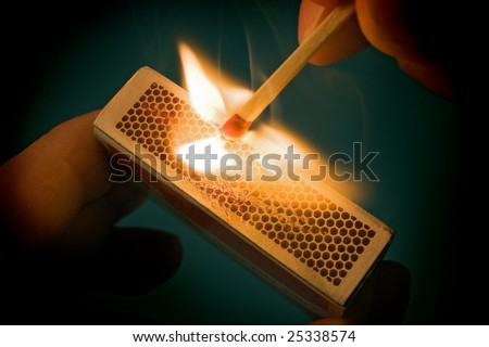 firing point safety match - stock photo