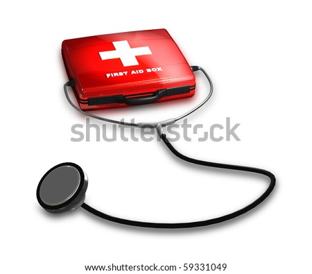 First Aid Box - stock photo