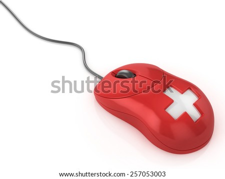 first aid computer mouse - stock photo