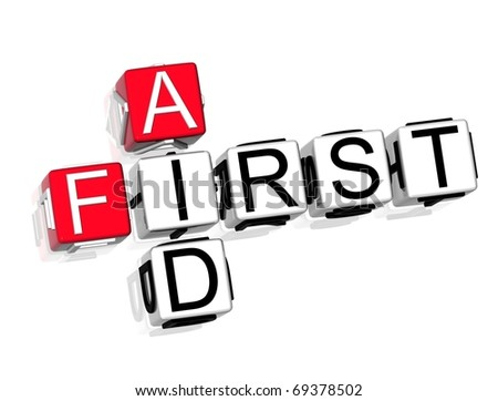 First Aid Crossword - stock photo
