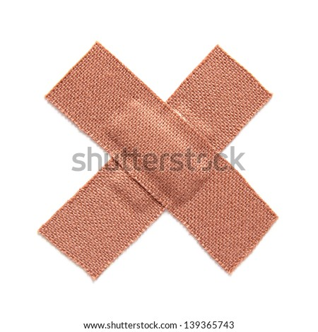 First aid plaster isolated on white background - stock photo