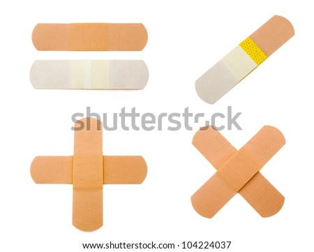 First-aid plaster with clipping paths - stock photo