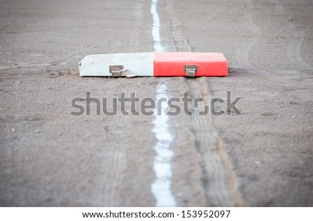 First Base with baseline - stock photo