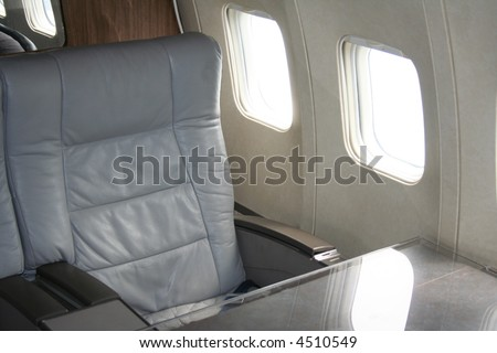 first class air travel seat - stock photo