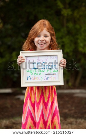 First day of school - stock photo